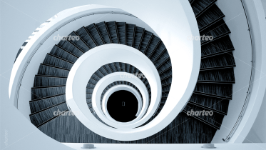 Spiral stairwell from above