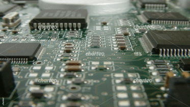 Central processing unit CPU on printed circuit board