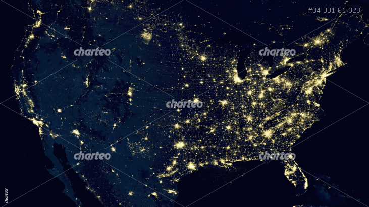 Earth from orbital perspective with focus on USA