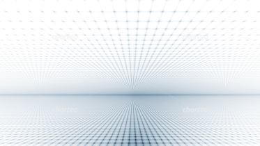 Dot matrix with three-dimensional effect towards horizon
