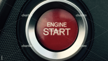 Red button to start car engine