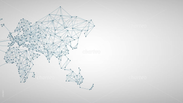 Worldmap with Linked Networks on Light Background 3
