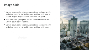 Placeholder text with image of skyline with skyscrapers