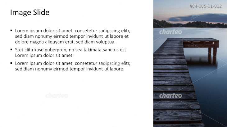 Placeholder text with image of a jetty
