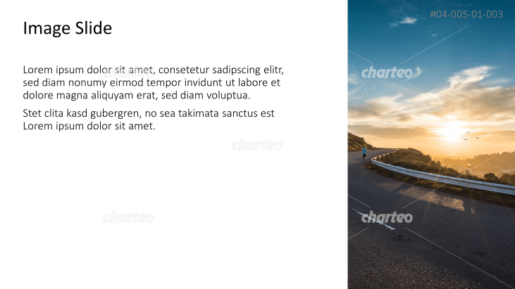 Placeholder text with image of a mountain road