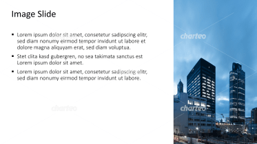 Placeholder text with image of skyscrapers