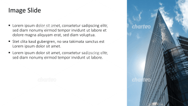 Placeholder text with image of a narrow skyscraper