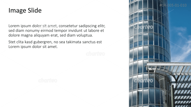 Placeholder text with image of an office building