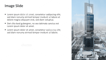 Placeholder text with image of a single skyscraper