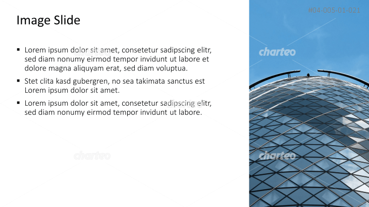 Placeholder text with image of a round glass facade