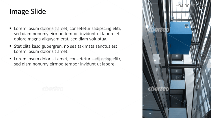 Placeholder text with image of inside of office building