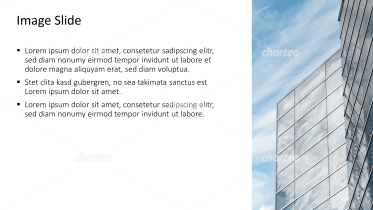 Placeholder text with image of a glass facade
