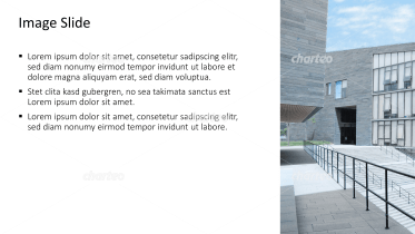Placeholder text with image of broad staircase between buildings