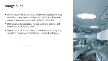 Placeholder text with image of inside of shopping mall