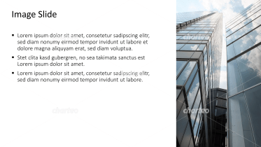 Placeholder text with image of two adjacent skyscrapers