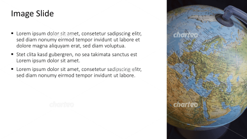 Placeholder text with image of a desk globe