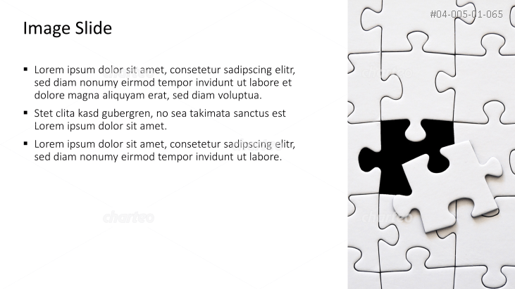 Placeholder text with image of a jigsaw puzzle