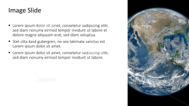 Placeholder text with image of planet earth