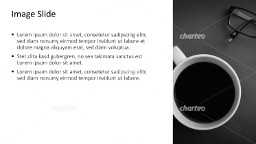 Placeholder text with image of a coffee cup