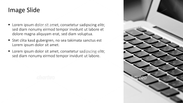 Placeholder text with image of a laptop keyboard