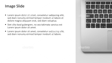Placeholder text with image of laptop and keyboard