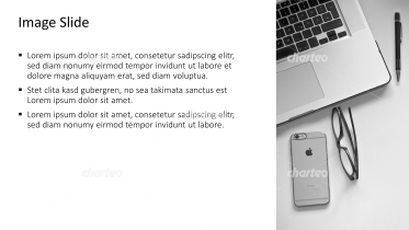 Placeholder text with image of laptop, smartphone and glasses