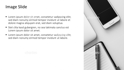 Placeholder text with image of smartphone and notebook
