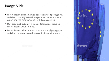 Placeholder text with image of European Union flags