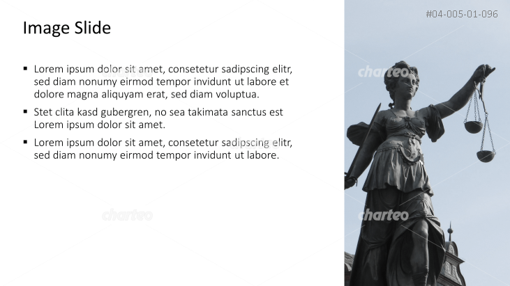 Placeholder text with image of Justice statue