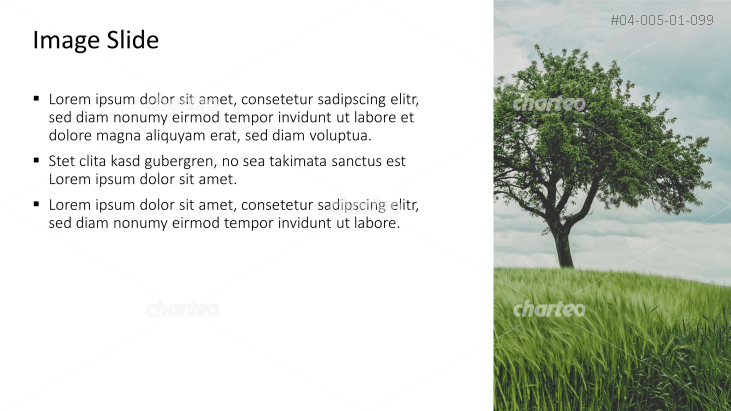 Placeholder text with image of a tree and a meadow