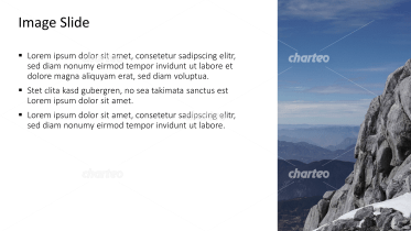 Placeholder text with image of mountain with panorama