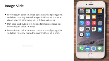 Placeholder text with image of iPhone with apps