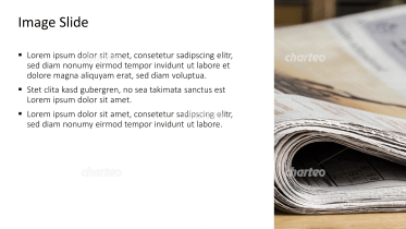 Placeholder text with image of folded daily newspaper