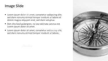 Placeholder text with image of a compass