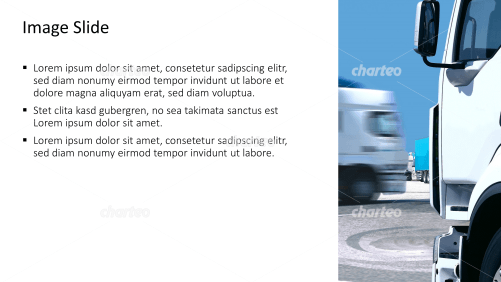 Placeholder text with image of trucks