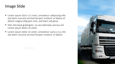 Placeholder text with image of truck
