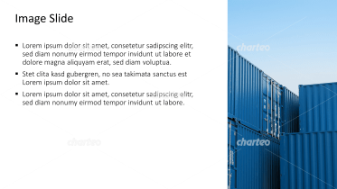 Placeholder text with image of shipping containers