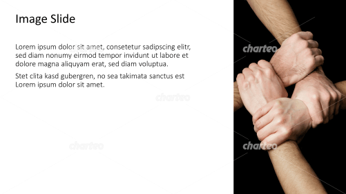 Placeholder text with image of hands building circle