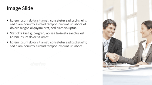 Placeholder text with image of two persons shaking hands