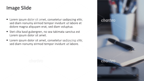 Placeholder text with image of notebook with pen holder