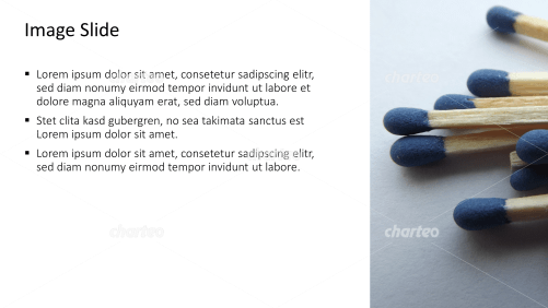 Placeholder text with image of blue matchstick tips