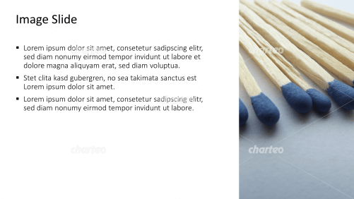 Placeholder text with image of matchsticks