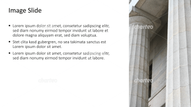 Placeholder text with image of ancient pillars