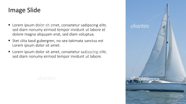 Placeholder text with image of a sailboat