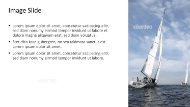 Placeholder text with image of a sailboat sailing away