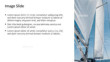 Placeholder text with image of sailboat canvas