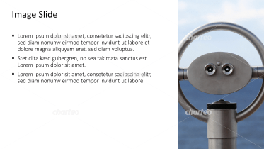 Placeholder text with image of stationary binoculars
