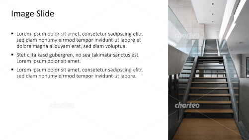 Placeholder text with image of a stairway