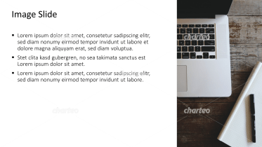 Placeholder text with image of laptop on wooden desk