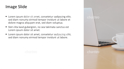 Placeholder text with image of laptop with coffee mug
